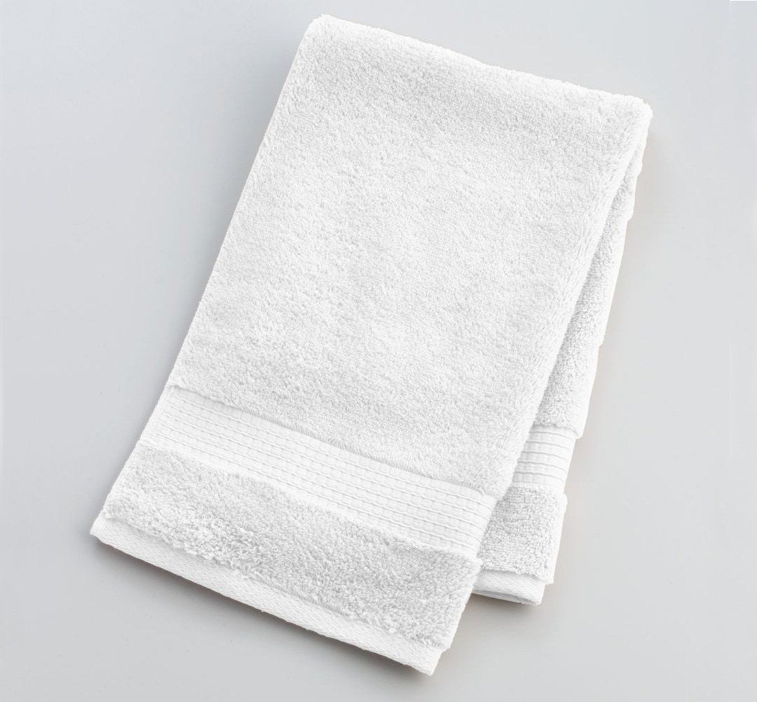 Hand towel premium cotton white size 16 x 27 weight 150 for How to get towels white