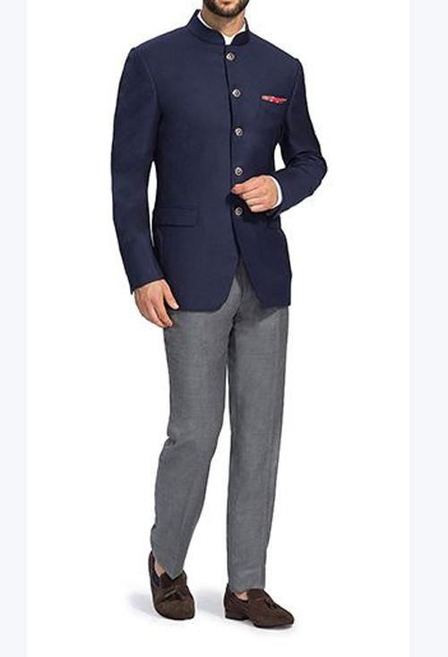 Prince Suit N Blue Jodhpuri Coat Amp Grey Trouser Ps 001