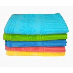 "BATH TOWEL  LUXURIOUS​ JACCORD ​ TOWEL FULL​ ZUMBO ​ SIZE 3​6​' ​X 72""  SOFT ABSORBENT. ​900 GMS.  ONLY TURQUOISE BLUE COLOR IN STOCK"