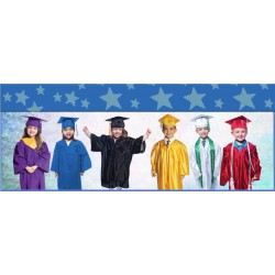 Children's / Kids Graduation Gown and Hat Set with Tassels