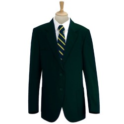 Boys Blazer Green Smart School Jacket Two Button With Patch Pockets