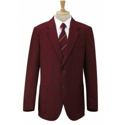 BOYS BLAZER MAROON SMART SCHOOL  JACKET TWO BUTTON WITH PATCH POCKETS
