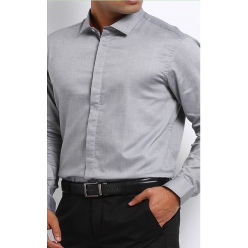 069c10c4a8 MEN S CORPORATE UNIFORM GREY SHIRT   BLACK PANT