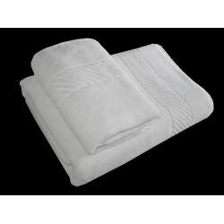 "Bath Towel Hotel White 375 GSM  Size 27""x 54 "" Rs. 116"