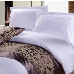 "BEDSHEET STRIPE 40'S COUNT SIZE 100"" X 112"" 