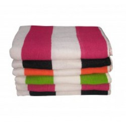 "6 CABANA BATH TOWEL FULL​  SIZE 30"" X 60"" COTTON SOFT ABSORBENT. PACK OF 6 BATH TOWELS. EACH TOWEL WEIGHT ​430 GMS. SST QUALITY - EXPORT SURPLUS."