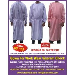 GOWN FOR WORK WEAR SHIYARAM CHECK