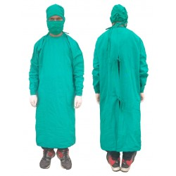 SURGEON GOWN 100% COTTON WITH FACE MASK AND SURGEON CAP