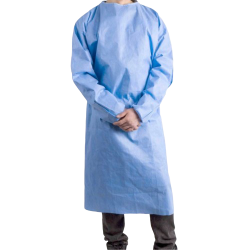 DISPOSABLE GOWN 100 GSM , LAMINATED WATER PROOF