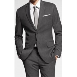Suit Worsted Grey Complete Two Button Blazer, Trouser, Shirt & Neck Tie.