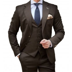 Suit Men's Formal Three Piece Blazer, Trouser, Waist Coat, Shirt & Neck Tie.