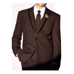 Tuxedo Suit Men's Formal Three Piece Blazer, Trouser, Waist Coat, Shirt & Neck Tie.