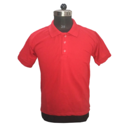 Men's TShirts Red Plain Polyester Cotton Blend