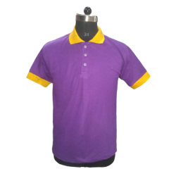 Men's TShirts Purple with Yellow Combi Polyester Cotton Blend