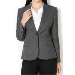Womens Blazer Smoke Grey Office Wear Party Wear Blazer