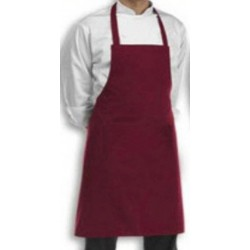 APRON BIB PLAIN MAROON COOK WEAR HOUSE WEAR.