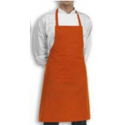 APRON BIB PLAIN ORANGE COOK WEAR HOUSE WEAR.
