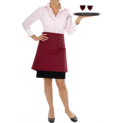 APRON BISTRO PLAIN RED COOK WEAR HOUSE WEAR 30 INCH LENGTH ( APRON ONLY )