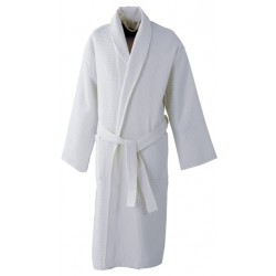 BATH ROBE MADE FROM WAFFLE FABRIC FULL SIZE