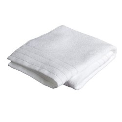 "HAND TOWEL PREMIUM COTTON WHITE SIZE 16"" X 24"" WEIGHT 120 GMS PER PC."