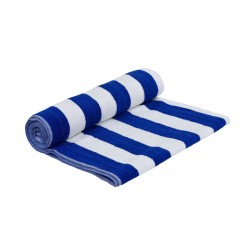 """POOL TOWEL BLUE AND WHITE PREMIUM COTTON SIZE 30"""" X 60"""" WEIGHT 500 GMS PER PC."""