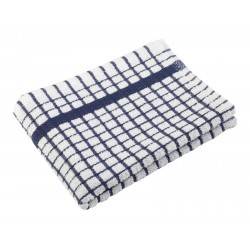 "FACE TOWEL PREMIUM COTTON WHITE WITH BLACK STRIPE SIZE 10"" X 10"""