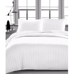 "BED SHEET MICRO POLYESTER WHITE STRIPE SIZE 60"" x 90"" 100% POLYESTER BLEND"