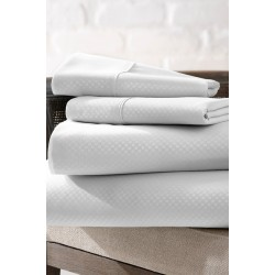 "BED SHEET MICRO POLYESTER WHITE CHECKS SIZE 60"" x 90"" RS. 115"