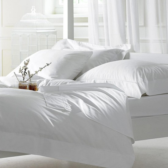 "BED SHEET SINGLE BED | SIZE 60"" x 108"" SATIN PLAIN WEAVE 300 THREAD COUNT"