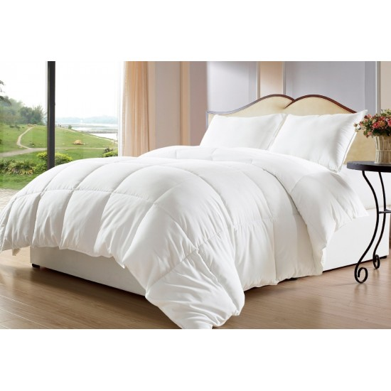 DUVET COMFORTER SINGLE BED SOFT WHITE 200 GSM RELIANCE POLY FILL SIZE 60 X 100
