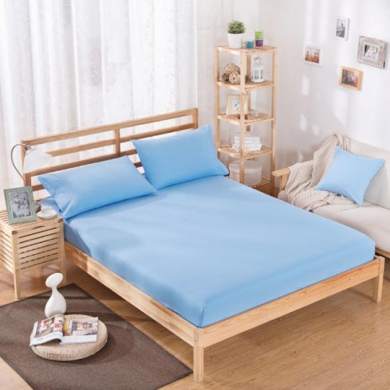 """BED SHEET COTTON LIGHT BLUE PASTEL SHADE 20s COUNT SIZE  60"""" X 90"""""""