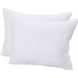 "PILLOWS WHOLESALE HOTEL- PILLOW SIZE 15""x 22"" FILLING .500 GRAMS POLY FILL ORIGINAL RELIANCE SILICON FINISH WITH OUTER COVERING 40s COUNT COTTON"
