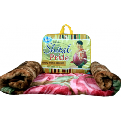 BLANKET  SHILTAL PRIDE FLORAL PRINT LUXURY MINK SUPER SOFT DOUBLE BED  SIZE 220 CM X 240 CM