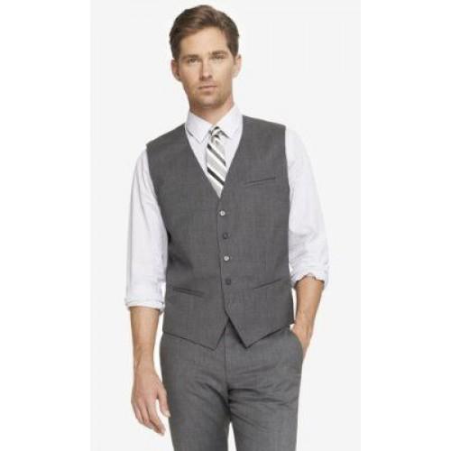 white shirt grey trousers