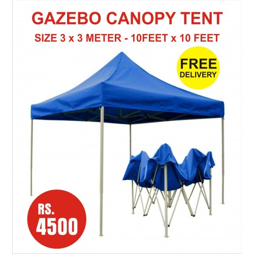 GAZEBO CANOPY TENT BLUE COLOR SIZE 3 METER X FOLDABLE OUTDOOR PARTY WEDDING MARKET PARKING