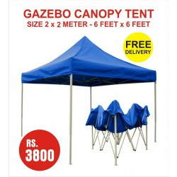 GAZEBO CANOPY TENT BLUE COLOR SIZE 2 METER X 2 METER FOLD ABLE OUTDOOR PARTY WEDDING MARKET  PARKING. PRICE RS 3800 INCLUDING GST & DOOR DELIVERY ANY WHERE IN INDIA