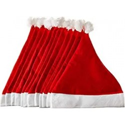 Lords Santa Hat-Set of 50 Christmas Santa Claus Hat / Santa Claus Cap Merry Christmas Hat Cap for Christmas /Xmas Party Celeb