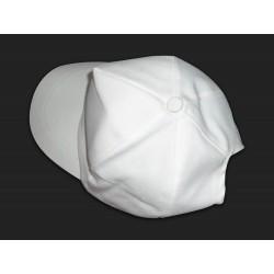 P CAP WHITE TWILL FABRIC