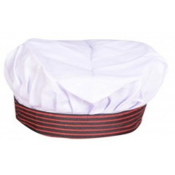 CHEF CAP HEAD GEAR OF BEST FABRIC DURABLE WASHABLE.PERFECT WORK WEAR WITH GRACEFUL LOOKS