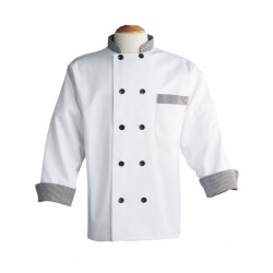 CHEF COAT EXECUTIVE CHEF WEAR DOUBLE BREASTED COOK COAT.