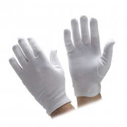 HAND GLOVES WHITE MADE FROM COTTON HOSIERY MATERIAL FREE SIZE