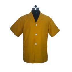 APRON LAB COAT DR COAT SUPERVISOR COAT DEEP YELLOW HALF SLEEVE