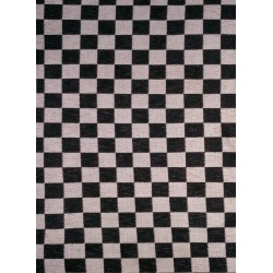SUITING CHESS CHECK BLACK & WHITE FABRIC HEAVY P.V. BLEND