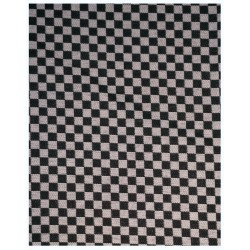 SUITING MINI CHESS CHECK BLACK & WHITE FABRIC HEAVY P.V. BLEND