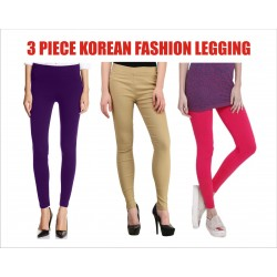 Leggings 3 Piece ​Ladies Fashion  Seamless ​Plain ​Dyed ​​
