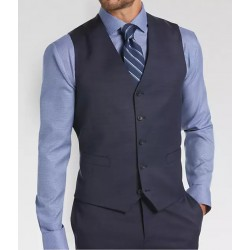 Waist Coat - Trouser Dark Grey Color With Sky Blue Shirt And Matching Tie