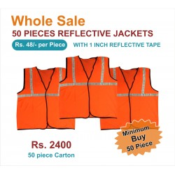 "REFLECTIVE JACKETS- 1"" REFLECTIVE TAPE JACKETS. PRICE INCLUDES GST & DOOR DELIVERY ANYWHERE IN INDIA."
