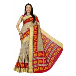 SAREE FESTIVAL RS. 700 RAW SILK BLOUSE FABRIC INCLUDE FREE DOOR DELIVERY