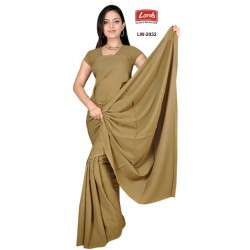 SAREE PLAIN POLYESTER FULL LENGTH 5.50 MTS
