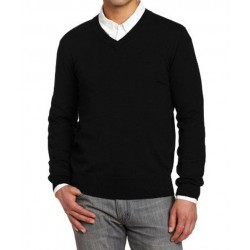 SWEATER PULL OVER V NECK WOOLEN BLACK CASH MELON WOOL HEAVY GSM 425 GMS WEIGHT PER PIECE
